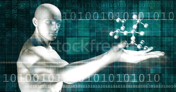 Zaawansowany technologii przemysłowych produkcji streszczenie tle Zdjęcia stock © kentoh