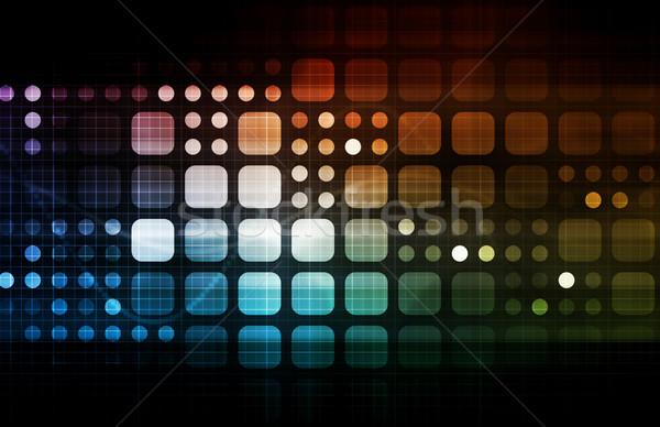 Fütüristik teknoloji sonraki nesil sanat soyut Stok fotoğraf © kentoh
