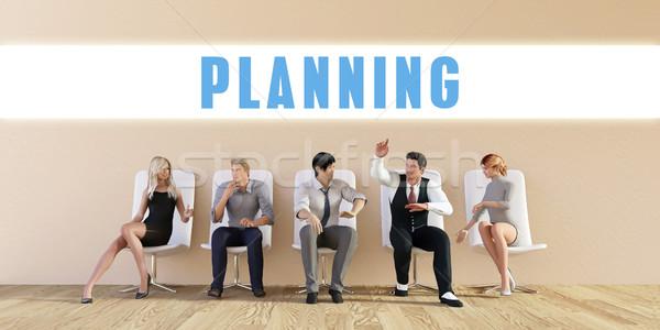 Negócio planejamento grupo reunião homem fundo Foto stock © kentoh
