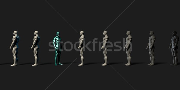 Kalabalık profesyonel iş model Stok fotoğraf © kentoh