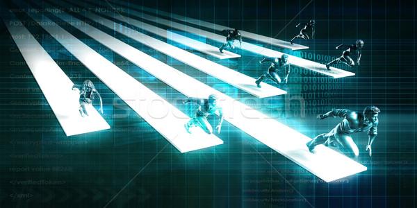 Iş güçlü yönetim altyapı arka plan ağ Stok fotoğraf © kentoh