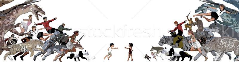 играть время детей игрушками толпа фон Сток-фото © kentoh