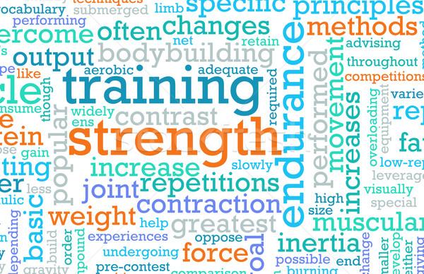 Erőedzés edzés fitnessz épület sport test Stock fotó © kentoh