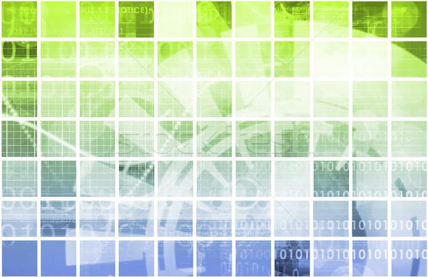 Bilgi teknolojisi veri ağ soyut arka plan kurumsal Stok fotoğraf © kentoh