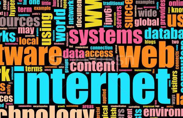 Visualization of the Internet Stock photo © kentoh