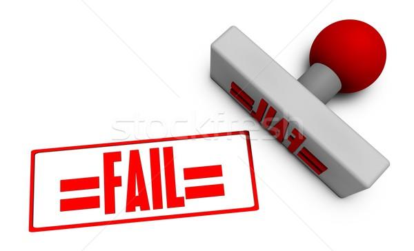 Fail Stamp Stock photo © kentoh