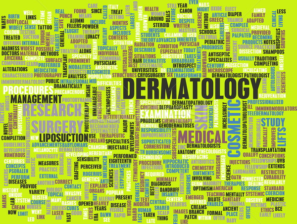 Dermatologia medici studio pelle abstract chiodo Foto d'archivio © kentoh