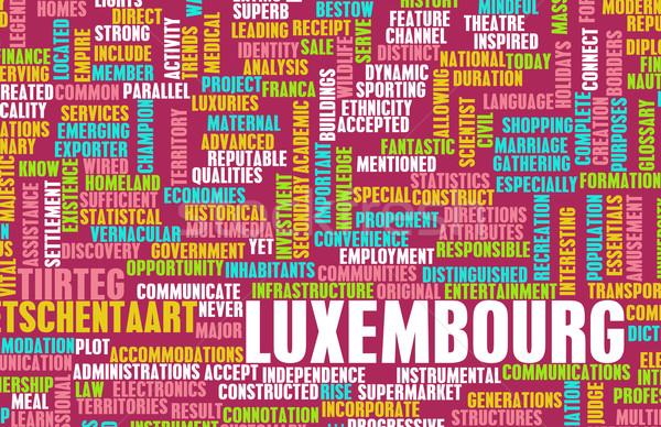 Luksemburg kraju streszczenie sztuki działalności piłka nożna Zdjęcia stock © kentoh