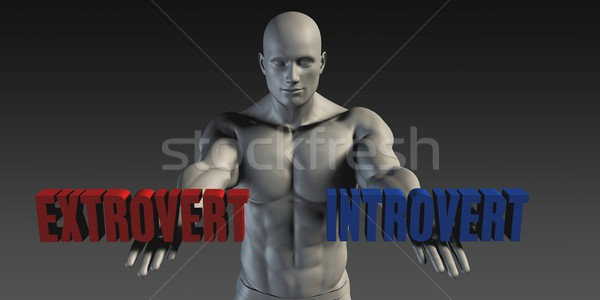 Extrovert or Introvert Stock photo © kentoh