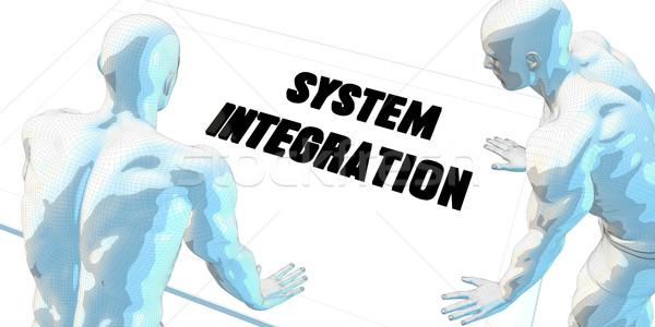 Integratie discussie zakelijke bijeenkomst kunst vergadering achtergrond Stockfoto © kentoh