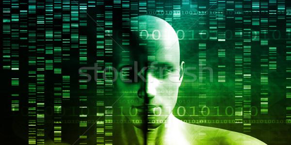 Dna chemie technologie genoom abstract medische Stockfoto © kentoh