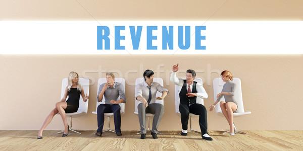 бизнеса доход группа заседание человека фон Сток-фото © kentoh