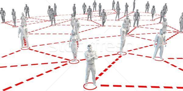 Zdjęcia stock: Business · network · działalności · kontakt · sieci