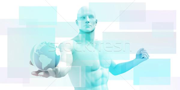 Technologie schone eenvoudige lijnen ontwerp achtergrond Stockfoto © kentoh