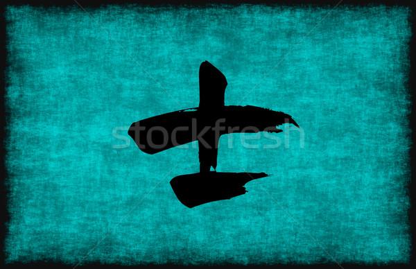 китайский характер Живопись воин синий текстуры Сток-фото © kentoh