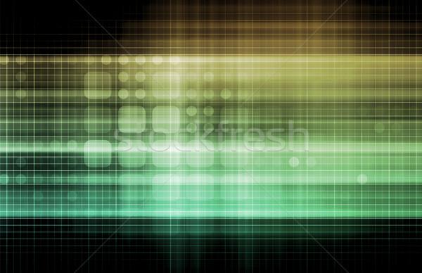 Technologii sieci danych sieci internetowych korporacyjnych Zdjęcia stock © kentoh