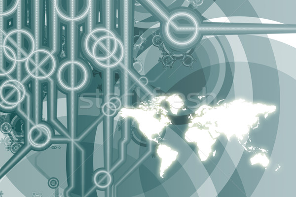Global Business Technology Abstract Stock photo © kentoh