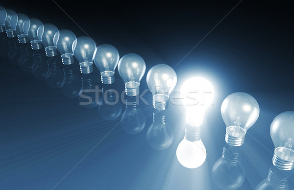 Innovatie speciaal gloeilamp abstract corporate elektriciteit Stockfoto © kentoh