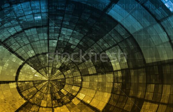 Hálózat biztonság internet adat háttér vállalati Stock fotó © kentoh