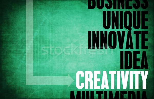 Criatividade núcleo princípios negócio retro digital Foto stock © kentoh