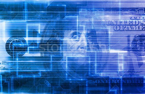 Digital Mobile Banking Stock photo © kentoh