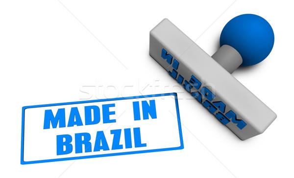 Brezilya damga pirzola kâğıt 3D meyve Stok fotoğraf © kentoh