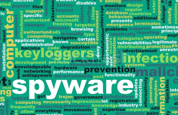 Spyware tecnologia on-line programa computador internet Foto stock © kentoh