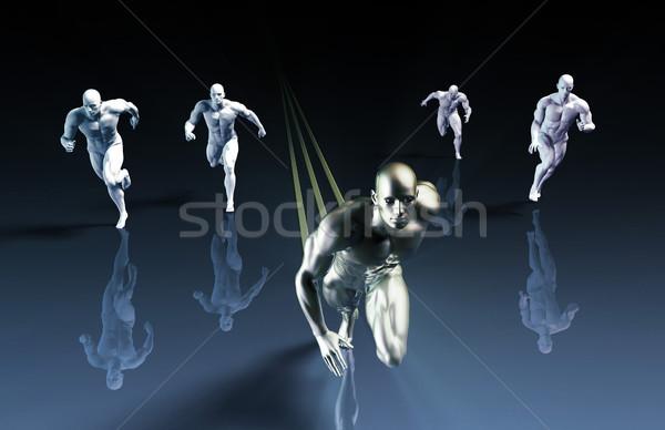 Industrie leider markt beheer model achtergrond Stockfoto © kentoh