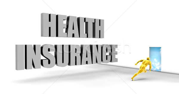 Egészségbiztosítás gyors útvonal közvetlen expressz út Stock fotó © kentoh