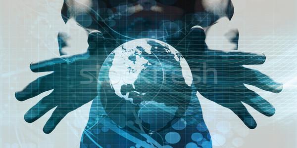 拡張性のある 本当の 時間 データ 抽象的な 技術 ストックフォト © kentoh