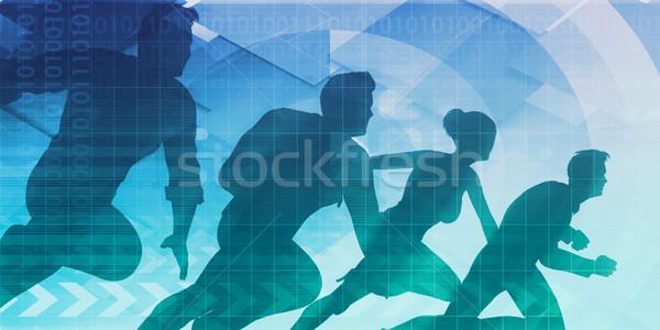 Kern waarden bedrijf business vergadering groep Stockfoto © kentoh