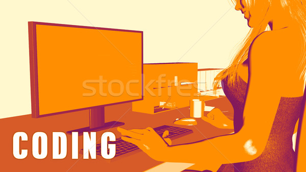 Coding Concept Course Stock photo © kentoh