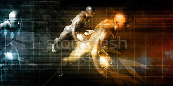 Preparazione sfidare business gara uomo fitness Foto d'archivio © kentoh