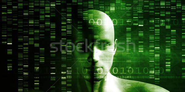 ADN chimie technologie génome résumé médicaux Photo stock © kentoh