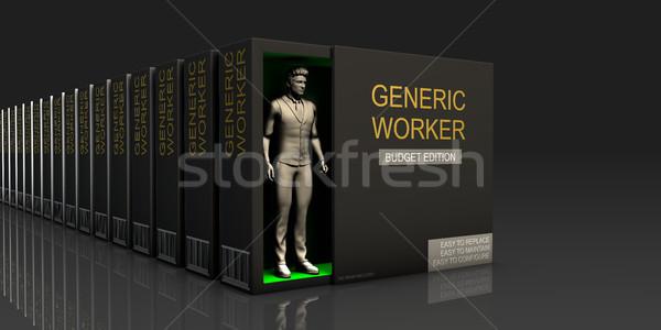 общий работник бесконечный поставлять работу Сток-фото © kentoh