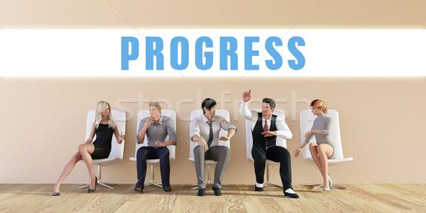 Negocios progreso grupo reunión hombre fondo Foto stock © kentoh
