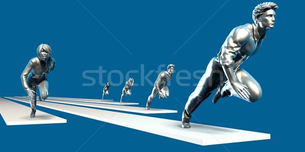 Excelencia equipo gente de negocios ejecutando junto negocios Foto stock © kentoh