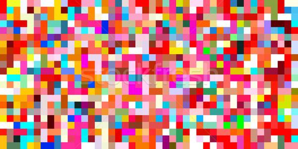 Senza soluzione di continuità disegno geometrico colorato elementi arte carta Foto d'archivio © kentoh