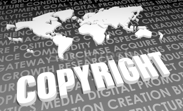 Szerzői jog ipar globális szabvány 3D térkép Stock fotó © kentoh