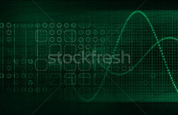 Mobilité technologie téléphone fond réseau web Photo stock © kentoh