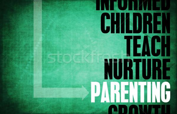 Gyereknevelés jó szülő absztrakt háttér kulcs Stock fotó © kentoh