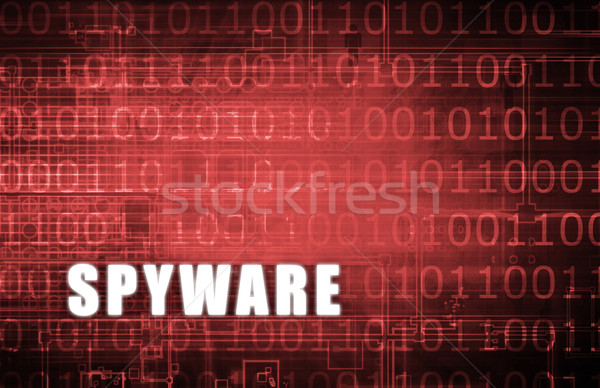 Spyware digitale binair waarschuwing abstract computer Stockfoto © kentoh