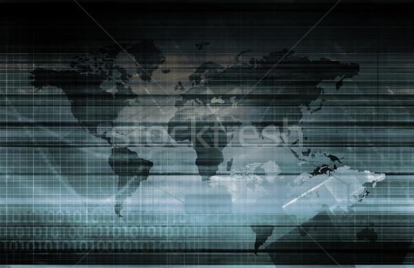 Global tecnología de la información inicio mundo servidor web Foto stock © kentoh