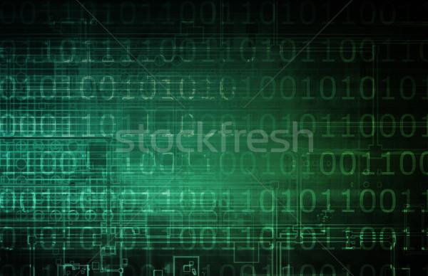Cyfrowe gospodarki streszczenie działalności tle internetowych Zdjęcia stock © kentoh