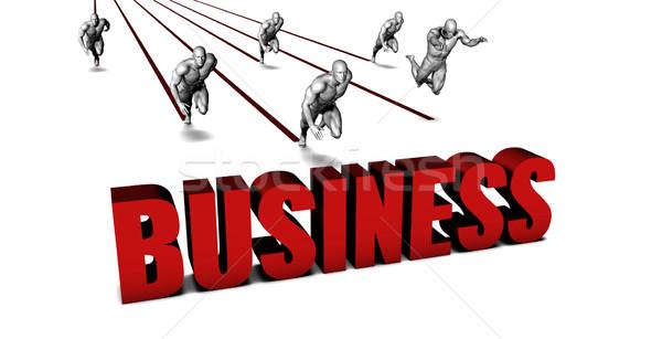 Jobb üzlet üzleti csapat versenyzés férfiak fut Stock fotó © kentoh
