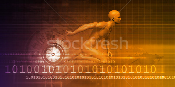 Man Machine Equilibrium Stock photo © kentoh