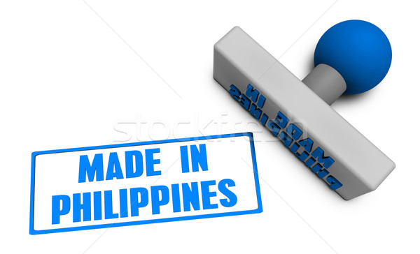 Made in Philippines Stamp Stock photo © kentoh