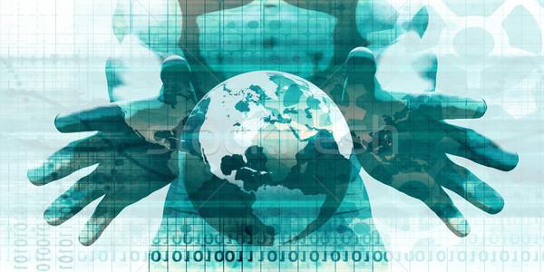 медицинской Consulting глобальный информации сеть искусства Сток-фото © kentoh