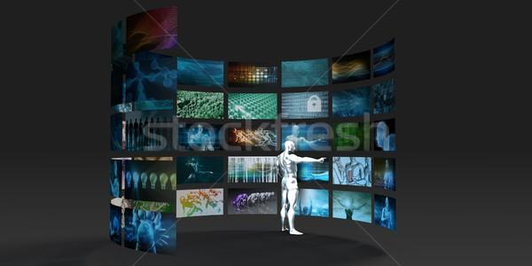 Video pazarlama çoklu iş web arama Stok fotoğraf © kentoh
