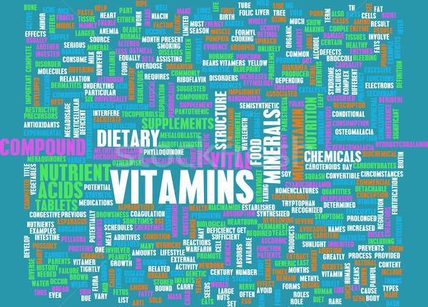Vitamine Gesundheit Ergänzungen chemischen Gleichgewicht Stock foto © kentoh